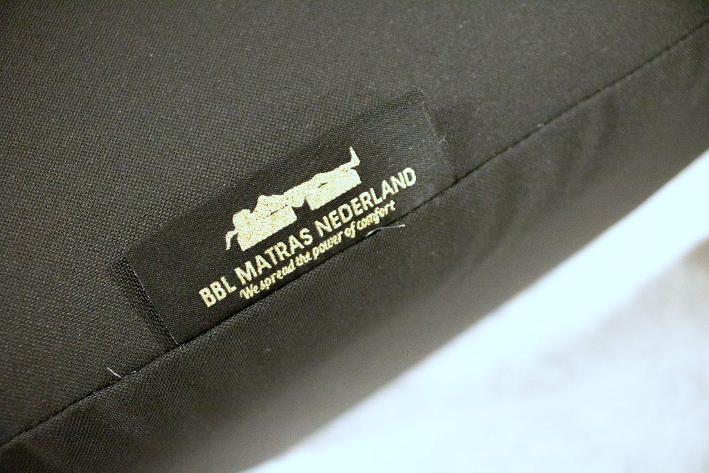 Tonen van de logo van BBL Matras Nederland op de BBL matras